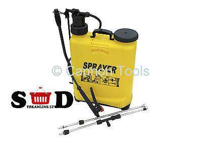 Garden Weedkiller Lawn Car Wheel 16 Ltr Portable Manual Pressure Sprayer Ct2352