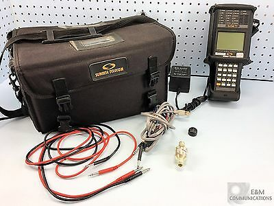 Ss100 Sunrise Telecom Sunset Handheld T1 Cable Analyzer W/ Case And Pwr Adapter