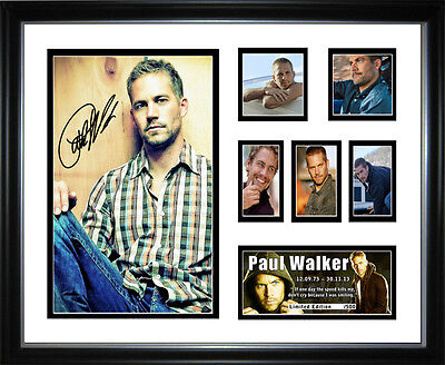 New Paul Walker Signed Framed Memorabilia