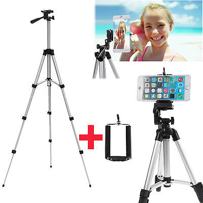 Professional Telescopic Tripod Stand Holder For iPhone 6 & Plus Samsung Note3 4
