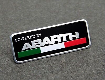 G403 For Abarth Powered By Emblem Decal Badge Sticker Metal