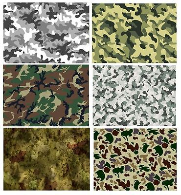 Camouflage Edible A4 Icing Sheets Cake Board Decoration