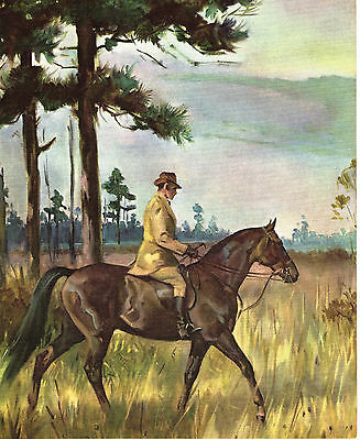 TENNESSEE WALKING HORSE MAN UP Art Print by Wesley Dennis