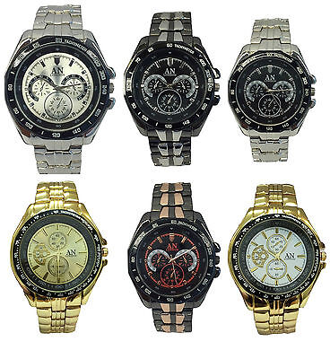 Job Lot of 6 x AN & Mabz London Metal Strap Men's  Watches - Stock Clearance