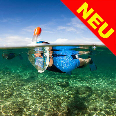 Tribord EasyBreath Snorkel Mask Full Face Surface Snorkelling Size L/XL Blue