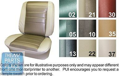 1965 Chevelle Aqua Front Buckets Seat Covers & Coupe Rear - PUI