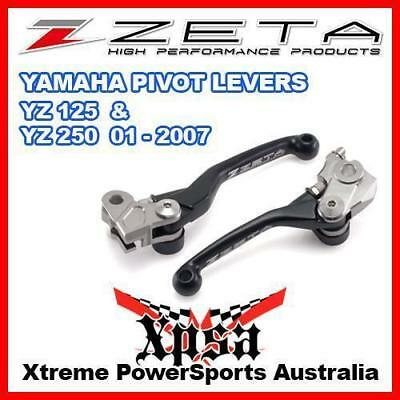 Zeta Pivot Lever Clutch & Brake Set Yamaha Yz 125 250 Yz125 Yz250 01-2007 Black