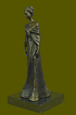 Bronze Sculpture Hand Made Statue Art Deco Signed Original Victorian Beauty Sale