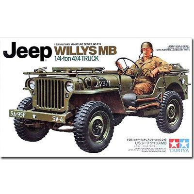 TAMIYA 35219 Jeep Willys MB. 1:4-ton 4x4 Truck 1:35 Military Model Kit