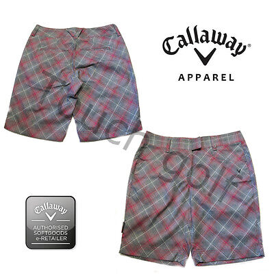Callaway Women/Ladies Golf Shorts Bias Plaid Print Shorts-CGBS4050-New.