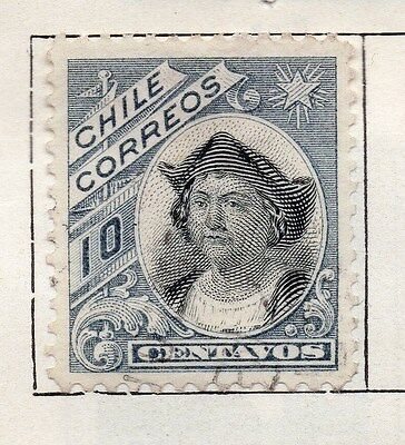 Chile 1905 Early Issue Fine Used 10c. 135780
