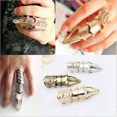 New Fashion Retro Vintage Rock Punk Full Finger Joint Armor Knuckle Metal Rings
