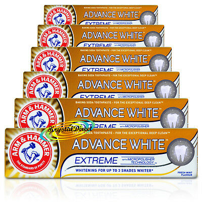 6x Arm Hammer Advance White Extreme Whitening Toothpaste Tooth Paste 75ml