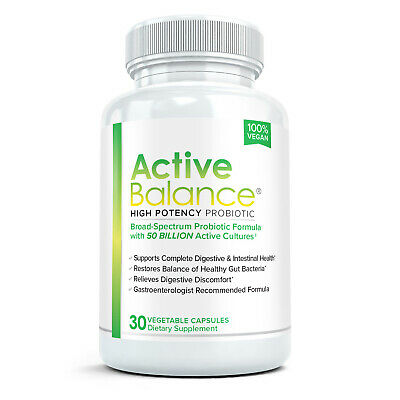 ACTIVE BALANCE Pharmaceutical Grade Probiotic Supplement 30ct - 50 billion CFUs