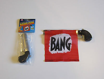 1 New Bang Gun Pistol With Flag Comedy Prop Guns Gag Gift Magic Trick