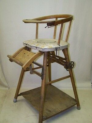 Age Children's High Chair Baby Wooden Game Table