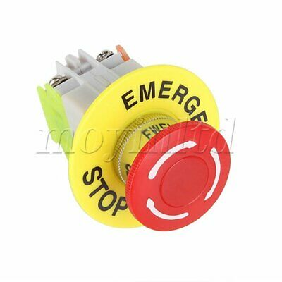 660V10A Latching Emergency Stop Push Button Switch NO/NC With 4 Terminals