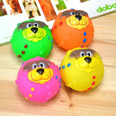 Vinyl Ball Pet Toy Squeaky Toy Dog Toy Chew Puppy Fetch Chew Colorful Playing