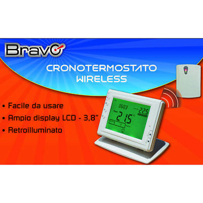 Cronotermostato da parete touch screen bianco finder for Cronotermostato wifi fantini