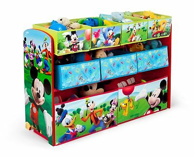 Disney's Mickey Mouse Deluxe Kids Toys & Games Multi Bin Storage Organizer New