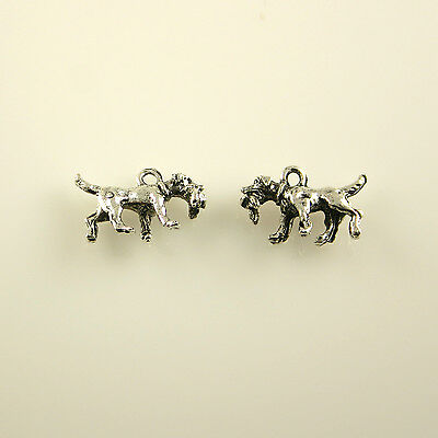 Retriever Dog - 5 Lead Free Antique Silver Tone Pewter Charms