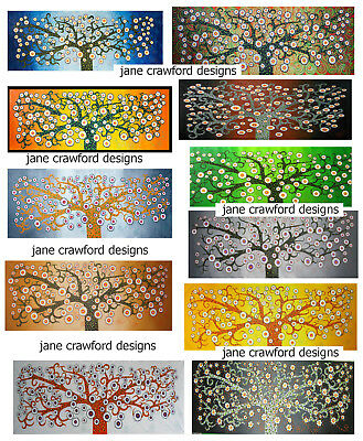 Art original Modern Australia Tree painting by Jane dot landscape non aboriginal
