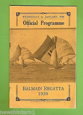#d167.  1930  Balmain  Regatta Program