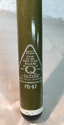 "RARE Vintage ST CROIX Billiards Pool Cue ""Q"" Stick PQ-57 Heavy Weight 19 oz USA"