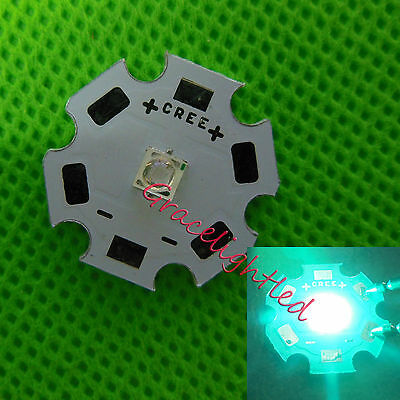 20PC 1W High Power diode cyan 490nm LED Emitter Bead 3.0-3.2V with 20mm star pcb