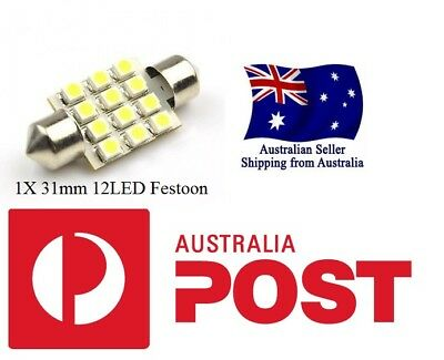 6000K 12SMD LED 31mm 30mm 32mm Festoon Light Bulb Interior Map Door Boot Car