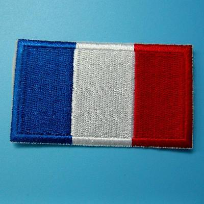 France Flag French Iron on Sew Patch Applique Badge Embroidered Biker Applique