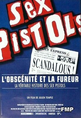 Sex Pistols - The Filth And The Fury - Punk Document Original Small Movie Poster