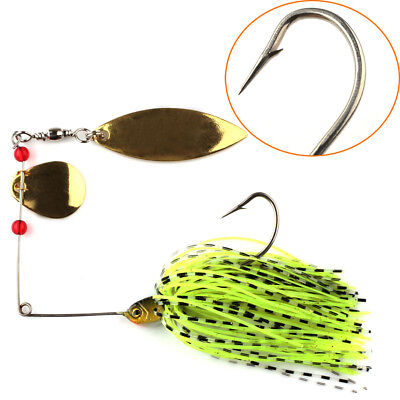4pcs Colorful Bass Yellowbelly Cod Spinnerbait Spinner Baits Fishing Lures 14.8g
