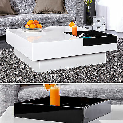 design couchtisch cuebase hochglanz lack weiss sofatisch highgloss tisch wei. Black Bedroom Furniture Sets. Home Design Ideas