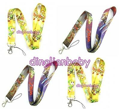 Lot Mixed Zelda Neck Strap Mobile Phone lanyard Keychain straps charms Gifts