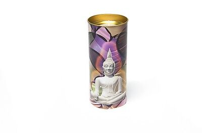 FindSomethingDifferent Buddha Candle Stained Glass Window Effect