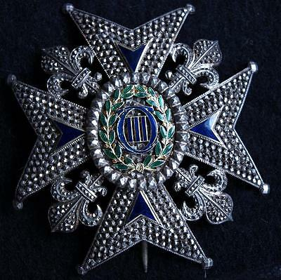 A 19th CENTURY SILVER SPANISH MEDAL ORDER OF CHARLES III. COMMANDER´S STAR