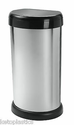 Silver Touch Top Kitchen Bin - 42L - Made From Plastic