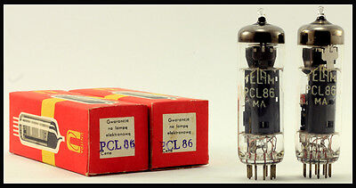 Matched pair NOS NIB PCL86/14GW8 TUBES electron tube (~ECL86) audio valve