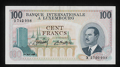 LUXEMBOURG 100 Francs 1968  BENELUX P-14 Lëtzebuerg Luxemburg PRE EURO NOTE