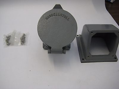 Russellstoll DF1407FRAB 100 Amp 3 Ph. 4 Wire 250 Volt Pin and Sleeve Receptacle