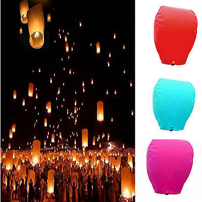 Chinese Paper Lanterns Flying Sky Floating Wishing Lamp for Wedding Party New