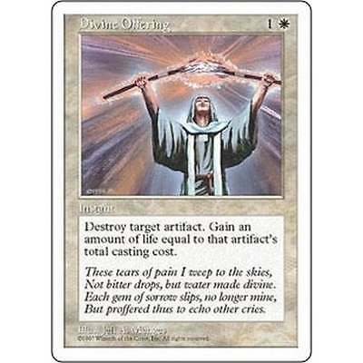 5th * Divine Offering X2 Mtg Fifth Edition