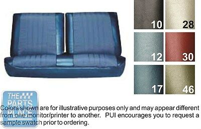 1968 Chevelle Light Blue Front Bench Seat Covers And Coupe Rear - PUI
