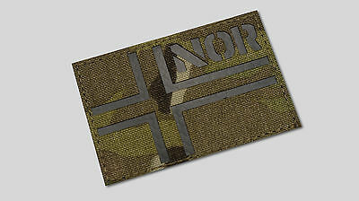 Norway flag Infrared Patch - Multicam - 3M SOLAS IR,Norwegian Army,SF