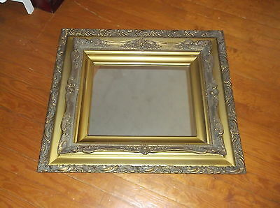 Large Antique Ornate Gold Gessco Victorian Hanging Wall Mirror