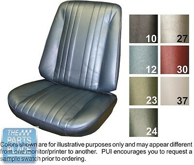 1969 Chevelle White Front Buckets Seat Covers - PUI