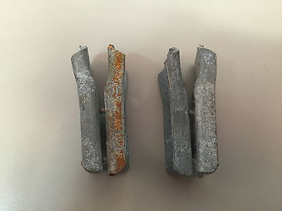 Penco style lot of 2 pair of clips for warehouse shelves