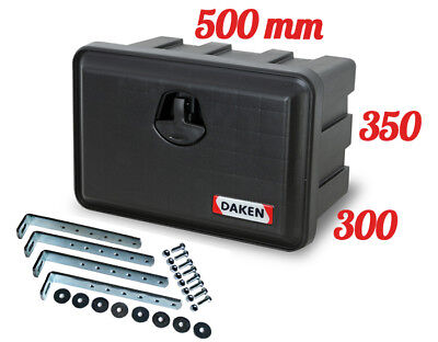 DAKEN Just 500R TOOL BOX 30L + MOUNTING BRACKETS / Truck Storage Box/ Lorry/ Bus