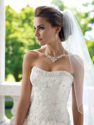 Wedding Necklace Earring Jewelry Set with Freshwater Pearls and Crystals